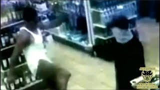 Bystander Does Chuck Norris Impression on Armed Robber   Active Self Protection