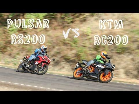 Bajaj Pulsar RS 200 vs KTM RC200 Comparison Video Review ZEEGNITION