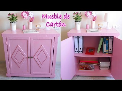 Tutorial mueble de cart n vintage mery daikhlo for Papel pintado bricomart