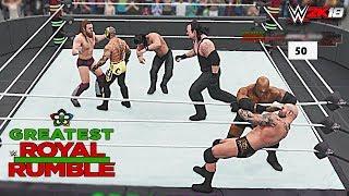 WWE 2K18 - 50-Man Greatest Royal Rumble Match! Greatest Royal Rumble 2018