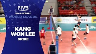 Lee spikes from behind 3 metre line - World League 2017
