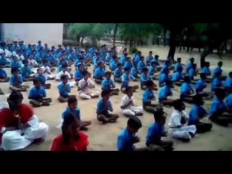 Rajasthani school pray song