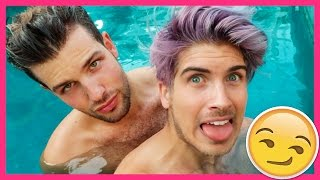 SWIMMING NAKED TOGETHER!
