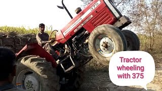 Crazy Wheeling of Tractor 375
