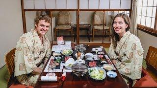 Traditional Japanese Food | Eating a Ryokan Multi-Course Kaiseki Dinner!