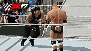 WWE 2K17 - Roman Reigns vs Triple H Wrestlemania 31 W/DAYTIME ARENA GAMEPLAY