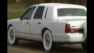 ' 94 Lincoln On Gangster WhiteWalls