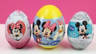 Huevo sorpresa de Minnie Mouse | Huevo sorpresa de Mickey Mouse | Kinder Surprise in spanish
