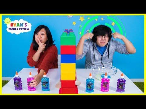 Twin Telepathy Slime Challenge Ryan s Mommy vs Daddy