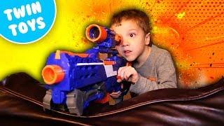 Nerf War:  The Secret Package Bean Boozled Challenge Kids React