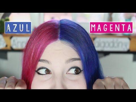 ¡PELO AZUL Y MAGENTA ✩ teñirse de dos colores Ann Look