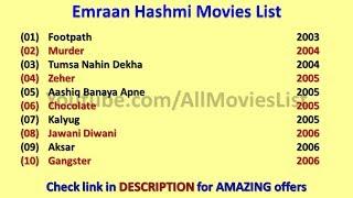 Emraan Hashmi Movies List