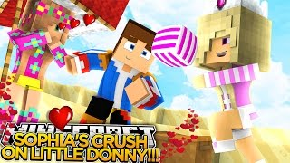SOPHIA HAS A CRUSH ON ME?? Minecraft - Little Donny Adventures.
