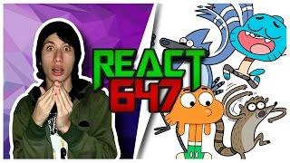 React 647 Mordecai e Rigby VS Gumball e Darwin [Part GN e Scoppey] (7Minutoz)