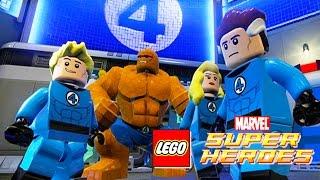 THE FANTASTIC FOUR Cartoon Movie for Kids Games | Marvel Superheroes Lego Videos for Children