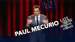 Comedian Paul Mecurio Performs Stand-Up