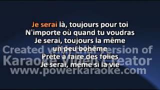 Lorie Je serai (ta meilleure amie) karaoke
