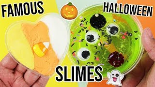 EXPOSING FAMOUS HALLOWEEN SLIME RECIPES!!! 😱
