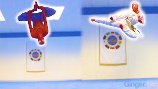 🕷️ SPIDERMAN TAEKWONDO TRAINING   Flips & Kicks