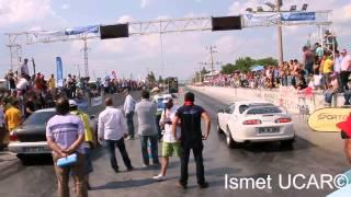 Subaru Impreza GC8 vs Toyota Supra Drag Race - Akhisar Dragları 2014