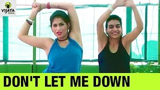 Don't Let Me Down - The Chainsmokers | Zumba Dance Fitness | Choreographed by Vijaya Tupurani