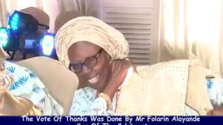 DEACONESS FLORENCE FOYEKE ALAYANDE GLOWS AT 80