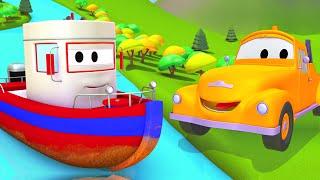 Tom la Grúa y el Barco en Auto City   Dibujos animados para niños