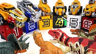 Dinosaurs appeared in Tayo town! Power Rangers and DinoCore S3 combination attack!! - DuDuPopTOY