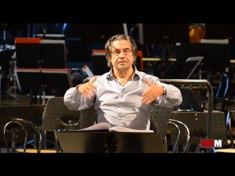 Riccardo Muti prova Nabucco Va Pensiero