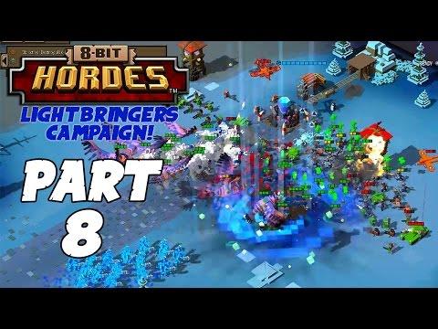 8-Bit Hordes Walkthrough: Part 8 - 3 Star Lightbringers Campaign! - PC Gameplay Playthrough 60fps