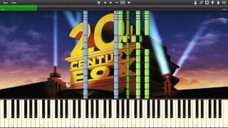 Alfred Newman - Twentieth Century Fox Fanfare - Synthesia Piano Solo Tutorial