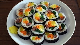 How to make gimbap (aka kimbap: 김밥)