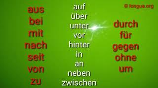 Präpositionen - Dativ, Akkusativ, Wechsel Präpositionen, Deutsch lernen - A1, A2, B1 - den, dem