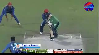 MUJEEB ZADRAN VS IRELAND ODI debut