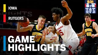 Highlights: Iowa at Rutgers | Big Ten Basketball