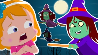 Flying Witches   Umi Uzi  Scary Nursery Rhymes   Video For Kids