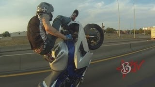 INSANE Illegal Motorcycle STUNTS On Highway LONG WHEELIES Street Bike TRICKS Middle Of The Map Ride