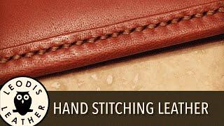 Hand Stitching Leather