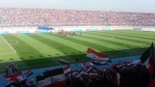 جمهور العراق استقبال المنتخب السوري رائع جدا
