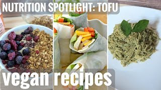 WHAT I ATE TODAY // EASY VEGAN TOFU RECIPES