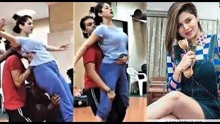 Kainaat Arora Hot Dans Practice