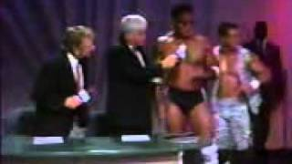The Rock's first TV pro wrestling match