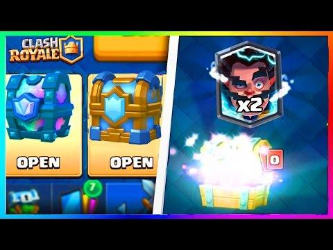 Clash Royale OMG DOUBLE LEGENDAIRE Pack Opening x2 Coffre de Clan