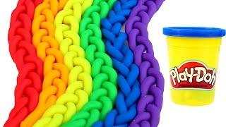 Play Doh Braids Rainbow Modelling Clay Fun and Creative For Kids Learn Colors