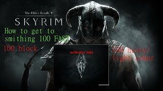 Skyrim How to get your smithing to 100 very fast and easy after patch 1.9