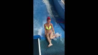 Bikini Girl Flowrider Wave Fail
