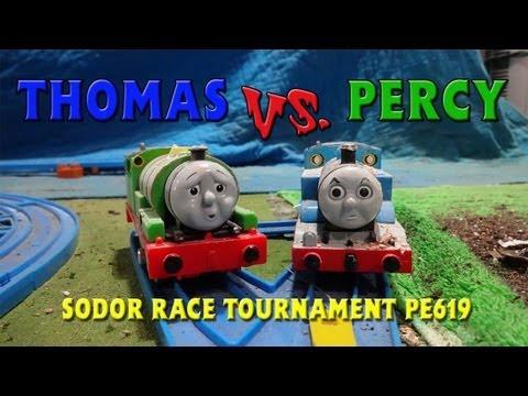Tomy Sodor Races Thomas vs Percy Race 1