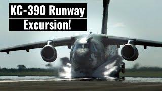 KC-390 Veers Off Runway On A Test Flight!