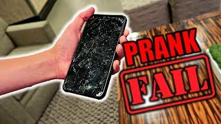 Cracked iPhone 7 Prank On DAD!**EPIC FAIL**