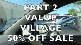 LADY RUMMAGES THROUGH MY PILE | PART 2 | HUGE VALUE VILLAGE 50% OFF SALE | LET'S GO THRIFTING
